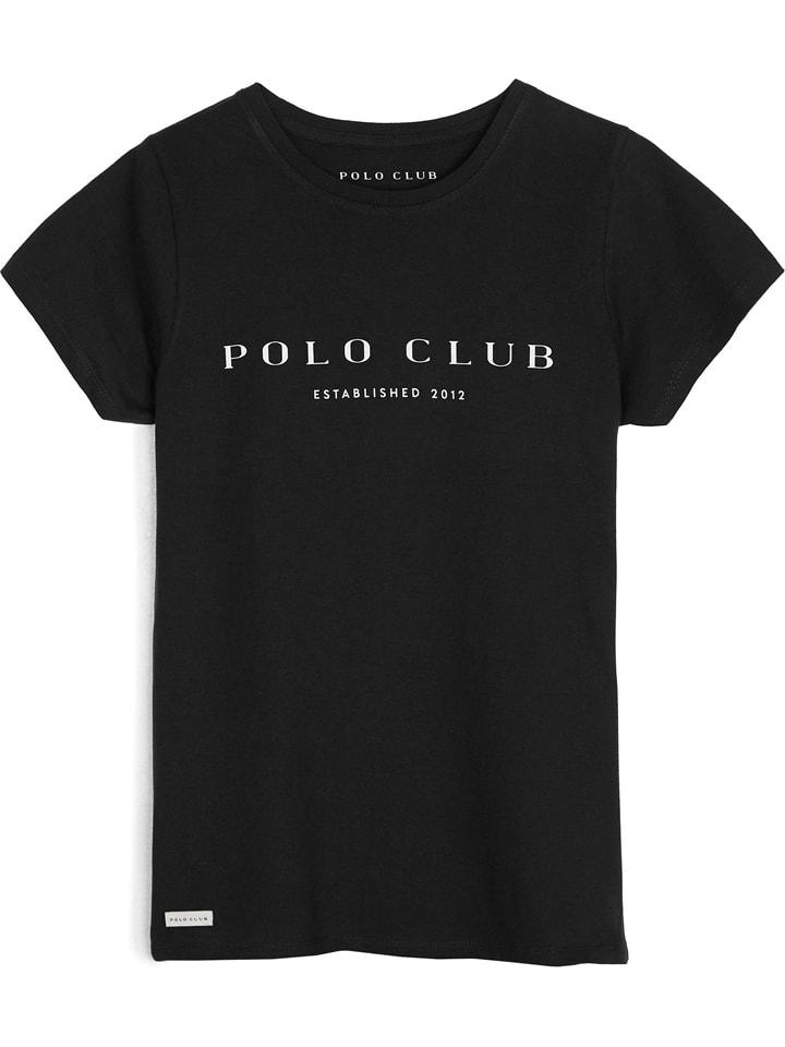 Polo Club Shirt in Schwarz