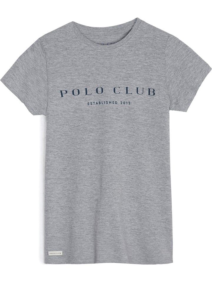 Polo Club Shirt in Grau