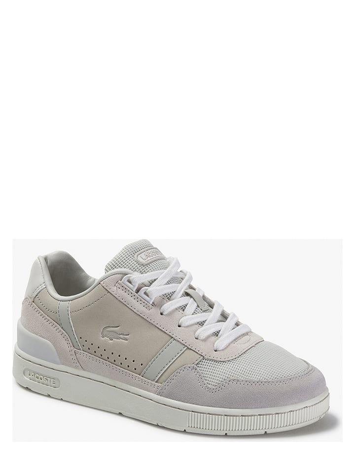 """Lacoste Leren sneakers """"T-Clip"""" gris"""
