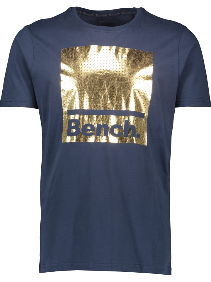 "Bench Shirt ""Hines"" donkerblauw/goudkleurig"