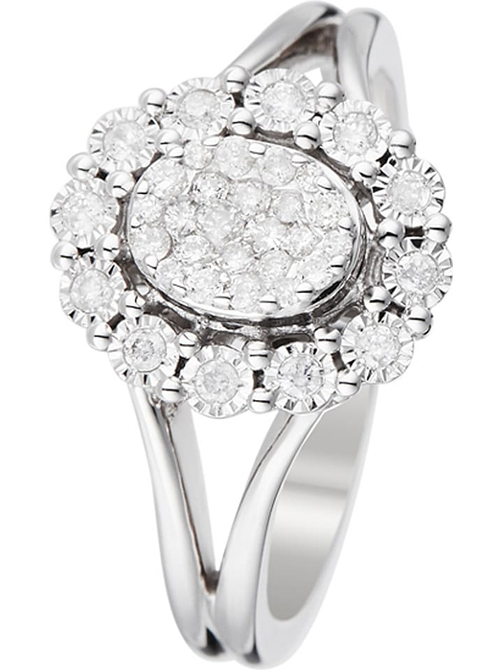 """Złoty pierścionek """"Mon Seul Amour"""" z diamentami"""