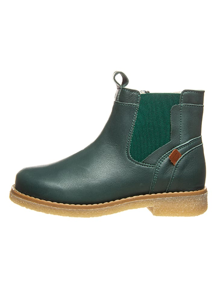 BO-BELL Leder-Chelsea-Boots in Dunkelgrün
