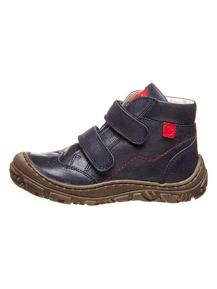 BO-BELL Leder-Ankle Boots in Dunkelblau