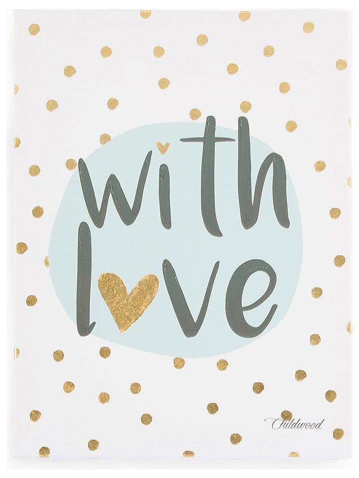 "Childhome Olieverfschilderij ""With Love"" - (L)40 x (B)30 cm"