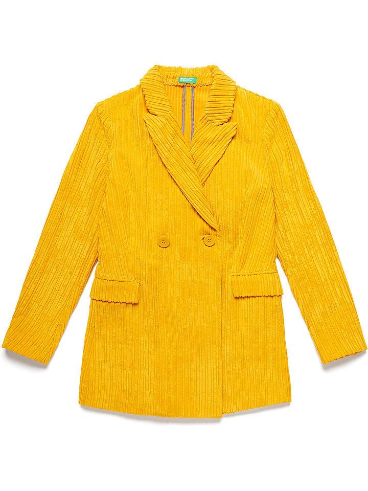 Benetton Blezer w kolorze żółtym