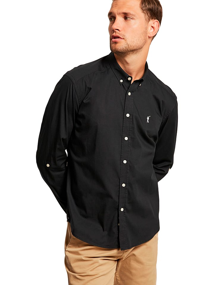 Polo Club Hemd - Custom fit - in Schwarz