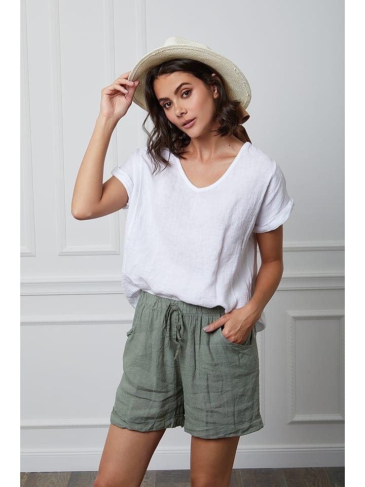 "Fleur de Lin Leinen-Shirt ""Fabius"" in Weiß"