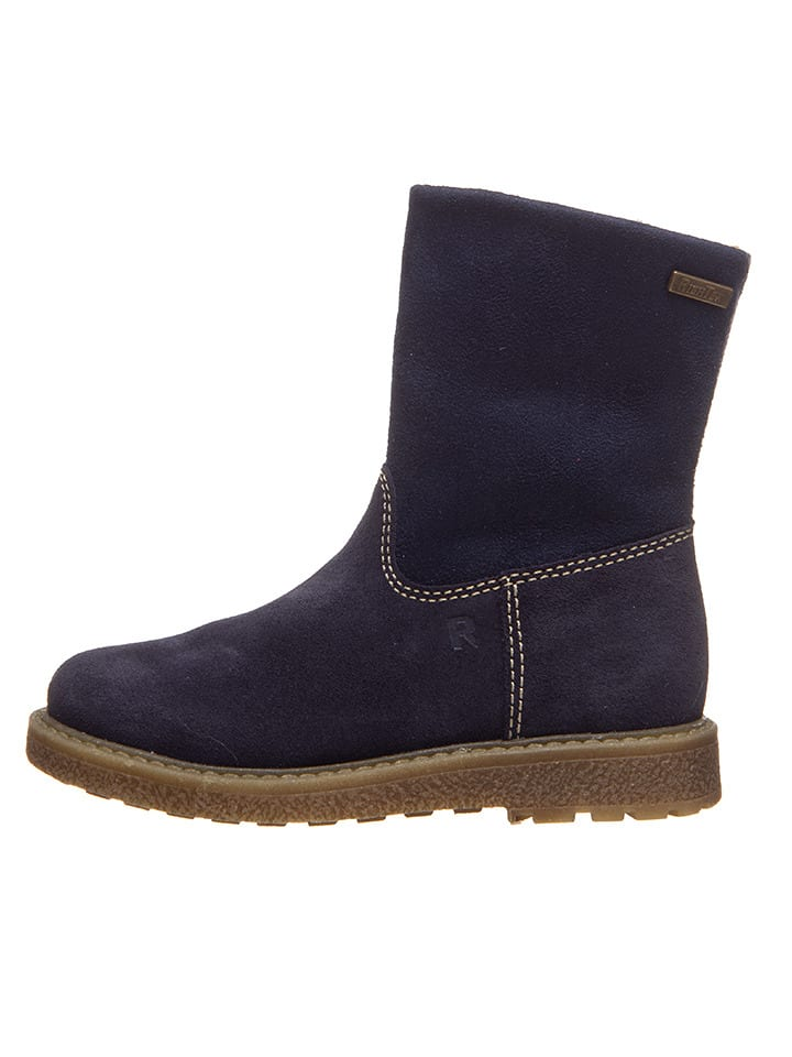 Richter Shoes Leder-Stiefel in Dunkelblau