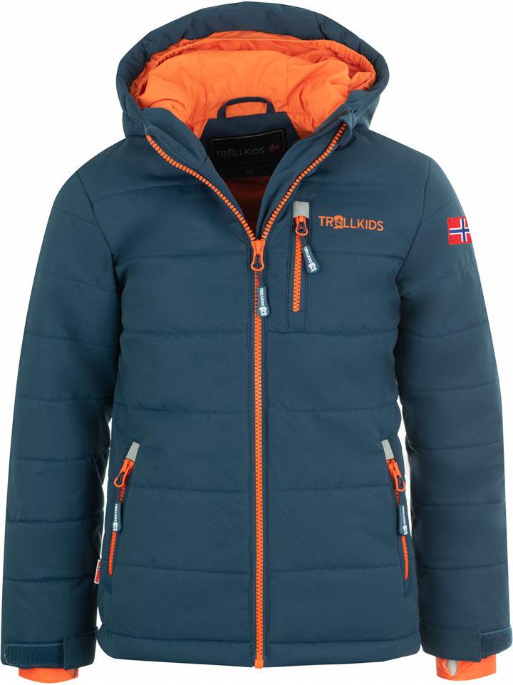 "Trollkids Ski-/ Snowboardjacke ""Hemsedal XT"" in Dunkelblau/ Orange"