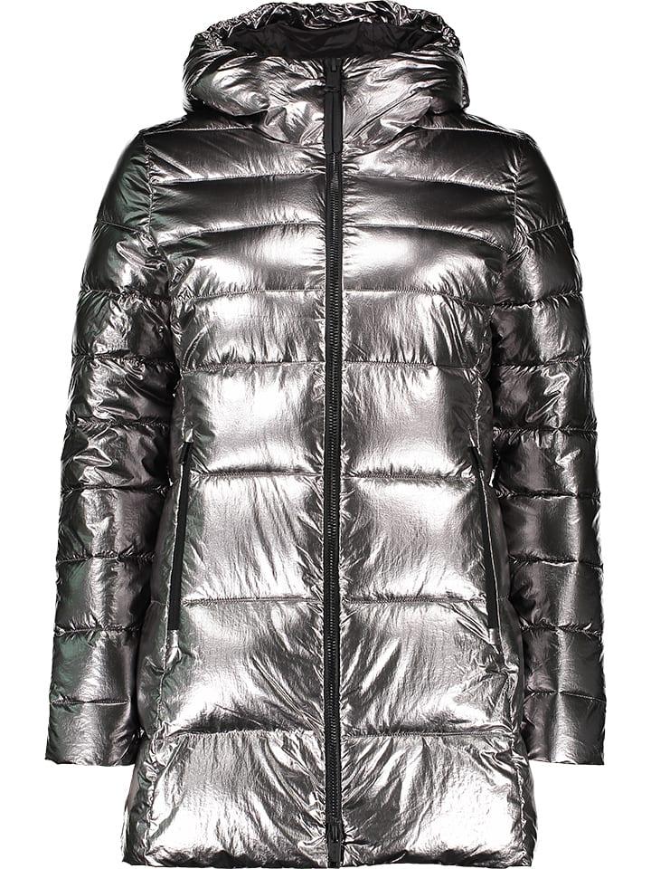 Płaszcz zimowy w kolorze srebrnym