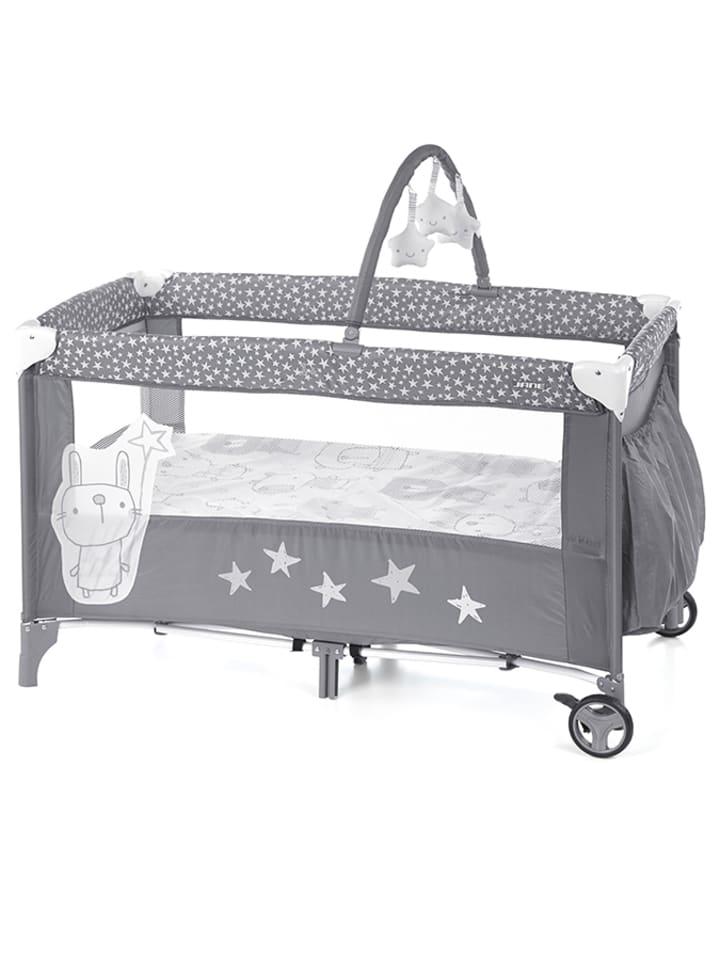 Graues Reisebett für Babys