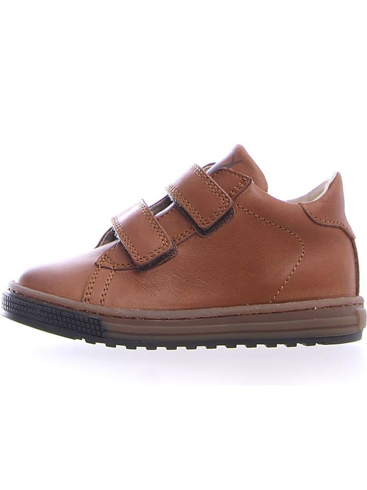 """Naturino Leren sneakers """"Bisse"""" lichtbruin"""