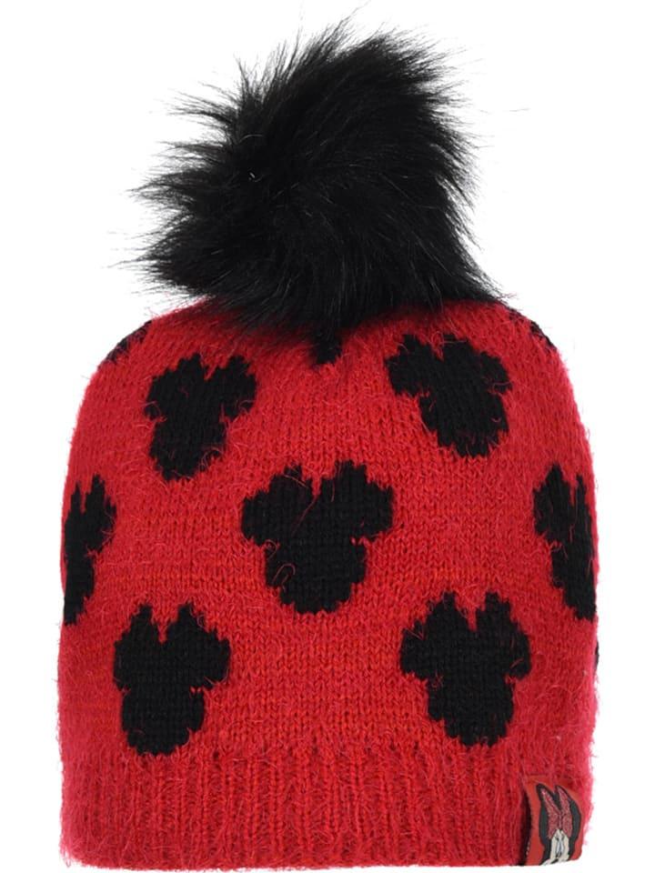 """Disney Minnie Mouse Czapka """"Minnie Mouse"""" w kolorze czarno-czerwonym"""