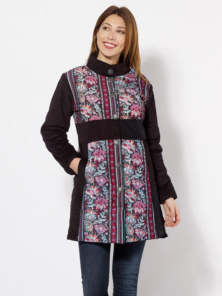 KÉAWA Mantel zwart/meerkleurig