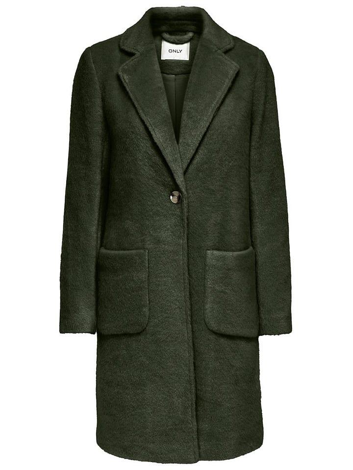 """ONLY Płaszcz przejściowy """"Claire"""" w kolorze ciemnozielonym"""