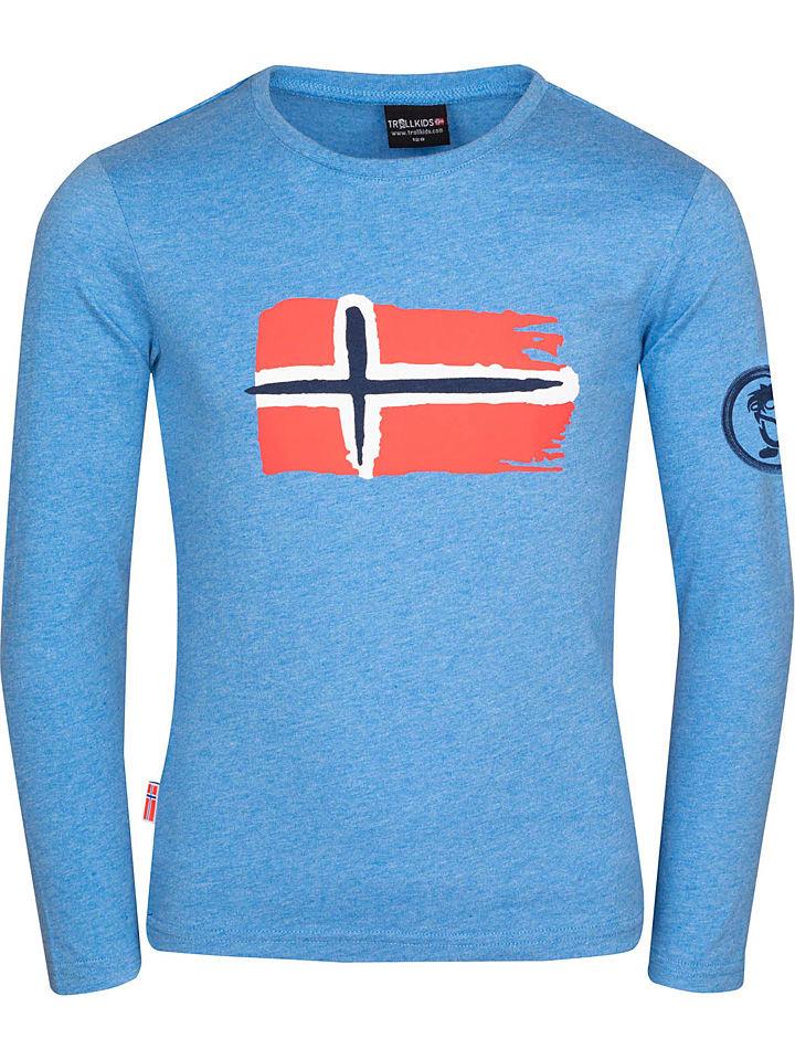 """Trollkids Funktionsshirt """"Oslo"""" in Blau"""