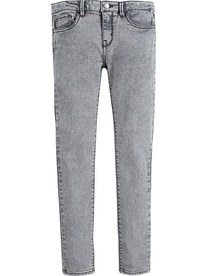 Levi's Kids Spijkerbroek - 710 super skinny fit - grijs