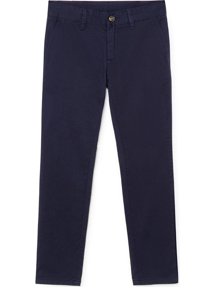 Hackett London Chinobroek - slim fit - donkerblauw