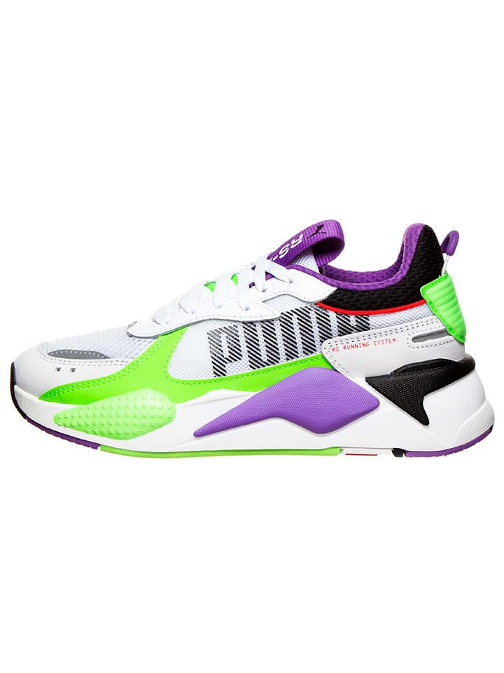 """Puma Sneakersy """"RS-X Bold"""" w kolorze biało-zielono-fioletowym"""