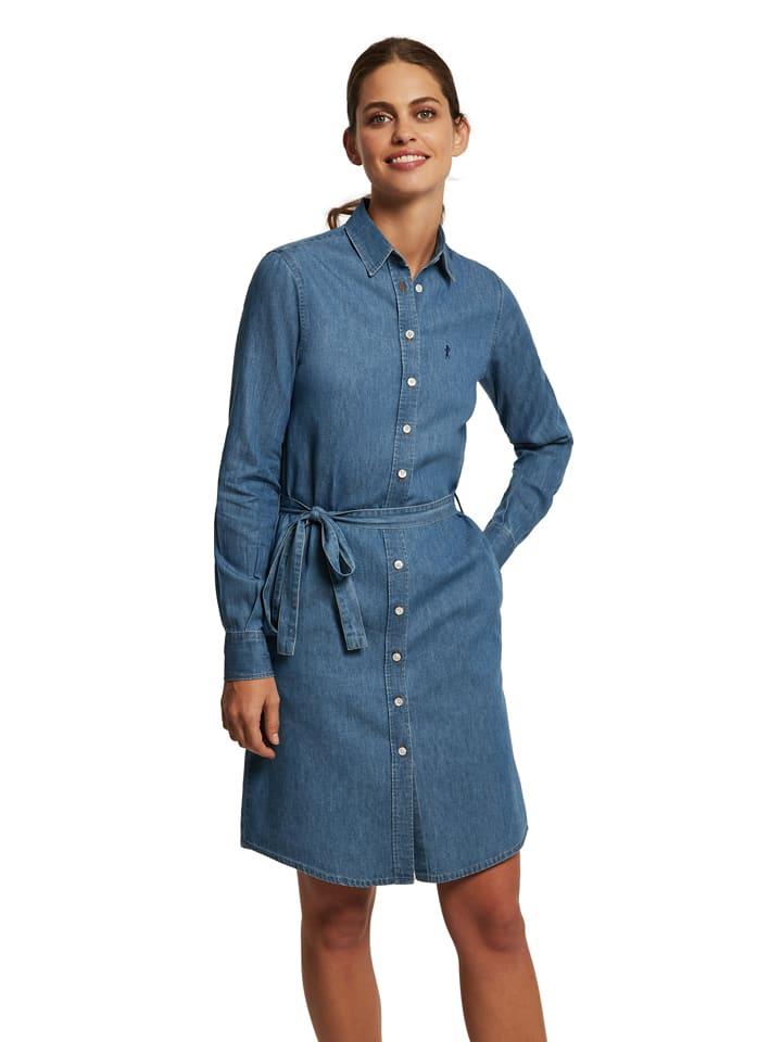 Polo Club Sukienka dżinsowa w kolorze niebieskim