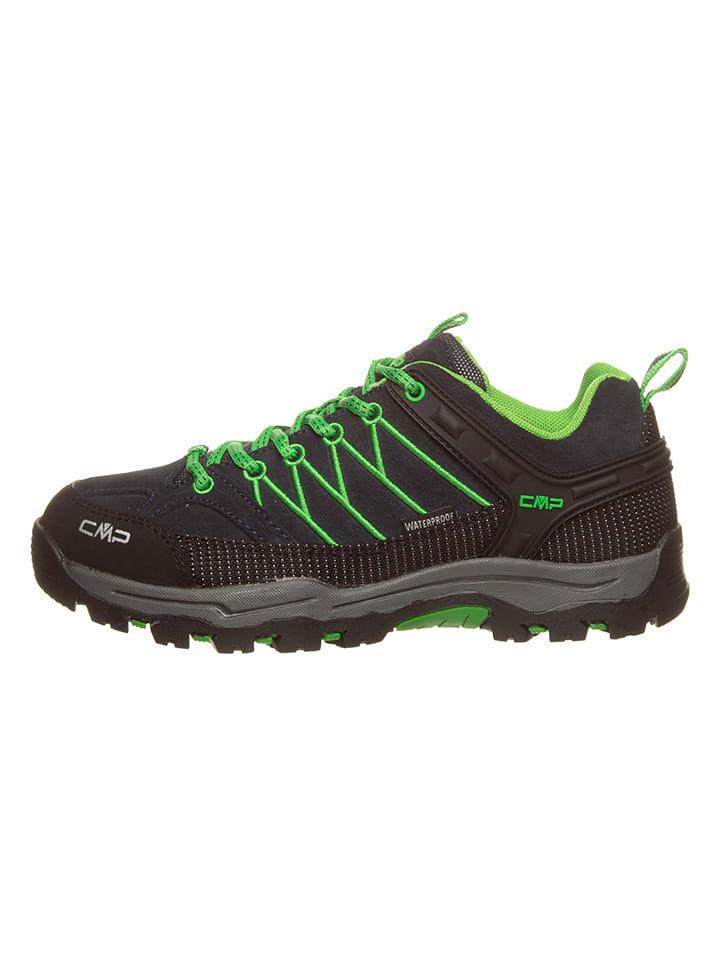 Buty trekkingowe w kolorze granatowo-zielonym