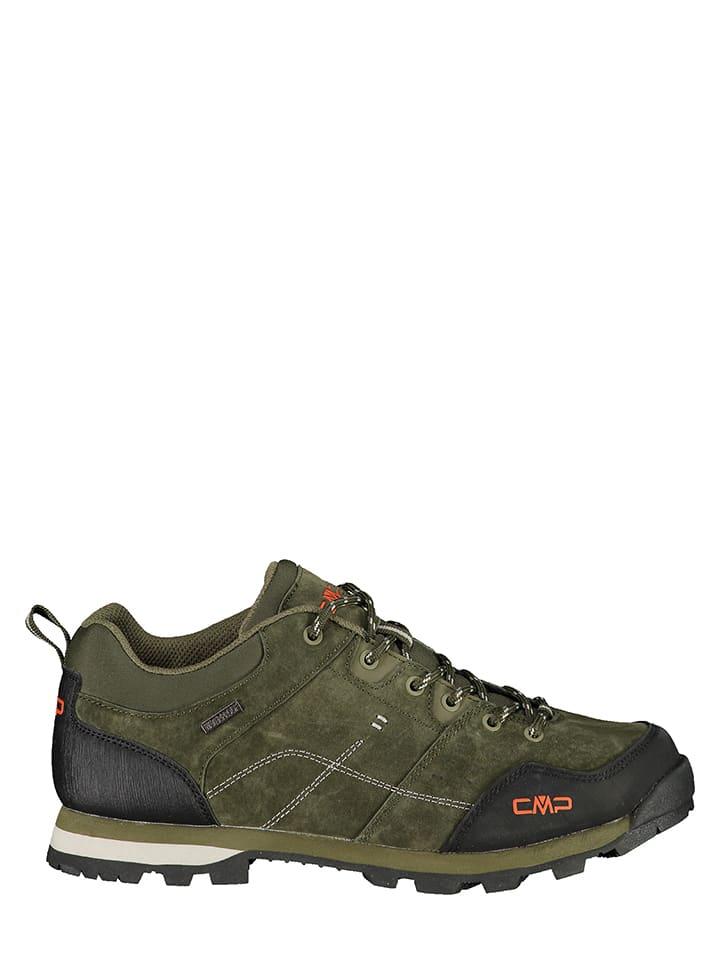 CMP Skórzane buty trekkingowe w kolorze oliwkowym