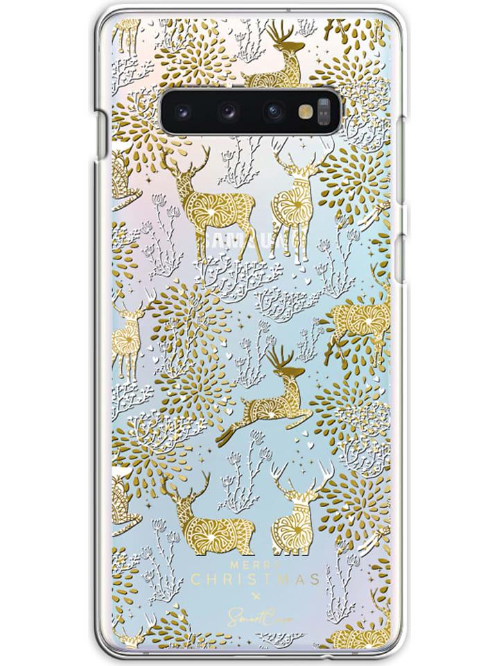 SmartCase Case für Samsung Galaxy S10 Plus in Gold/ Weiß
