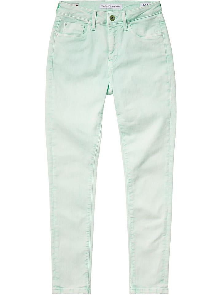 "Pepe Jeans Broek ""Dion"" - skinny fit - turquoise"