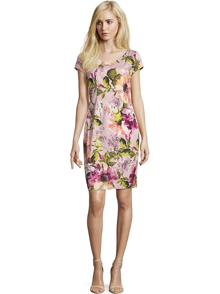 Kleid in Rosa/ Bunt