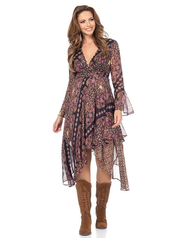 Peace & Love Sukienka w kolorze fioletowym