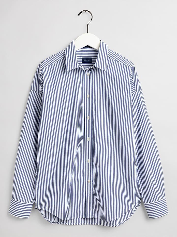 Gant Bluse in Blau/ Weiß