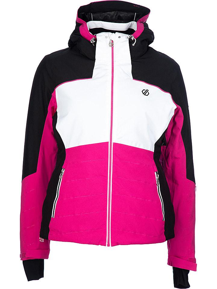 """Dare 2b Kurtka narciarska """"Flourish"""" w kolorze różowo-czarno-białym"""