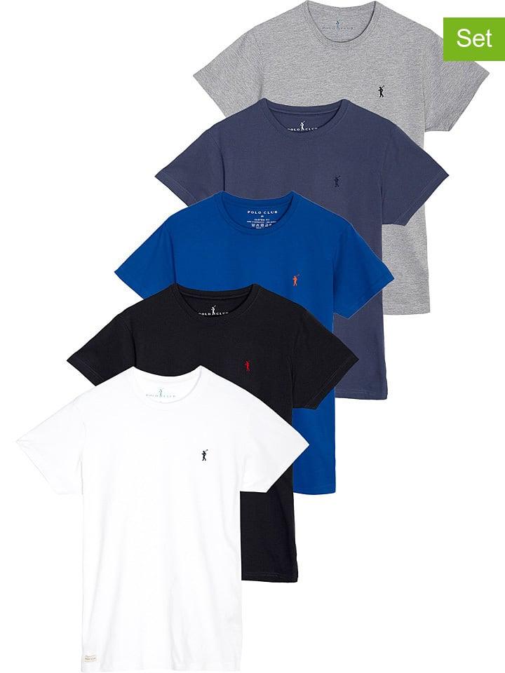 Polo Club Koszulki (5 szt.) w różnych kolorach