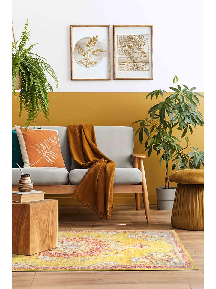 """Laagpolig tapijt """"Anatolia"""" geel"""