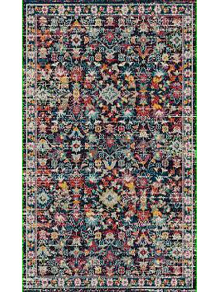 "Laagpolig tapijt ""Anatolia"" blauw/meerkleurig"
