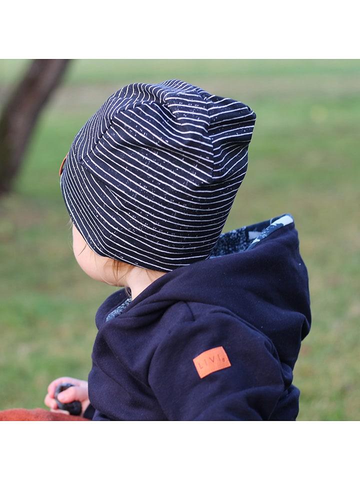 "LiVi Beanie ""Stripes"" in Dunkelblau"