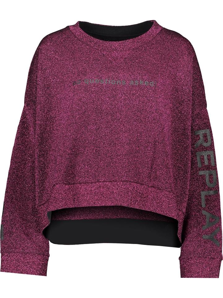 Replay Sweatshirt in Lila
