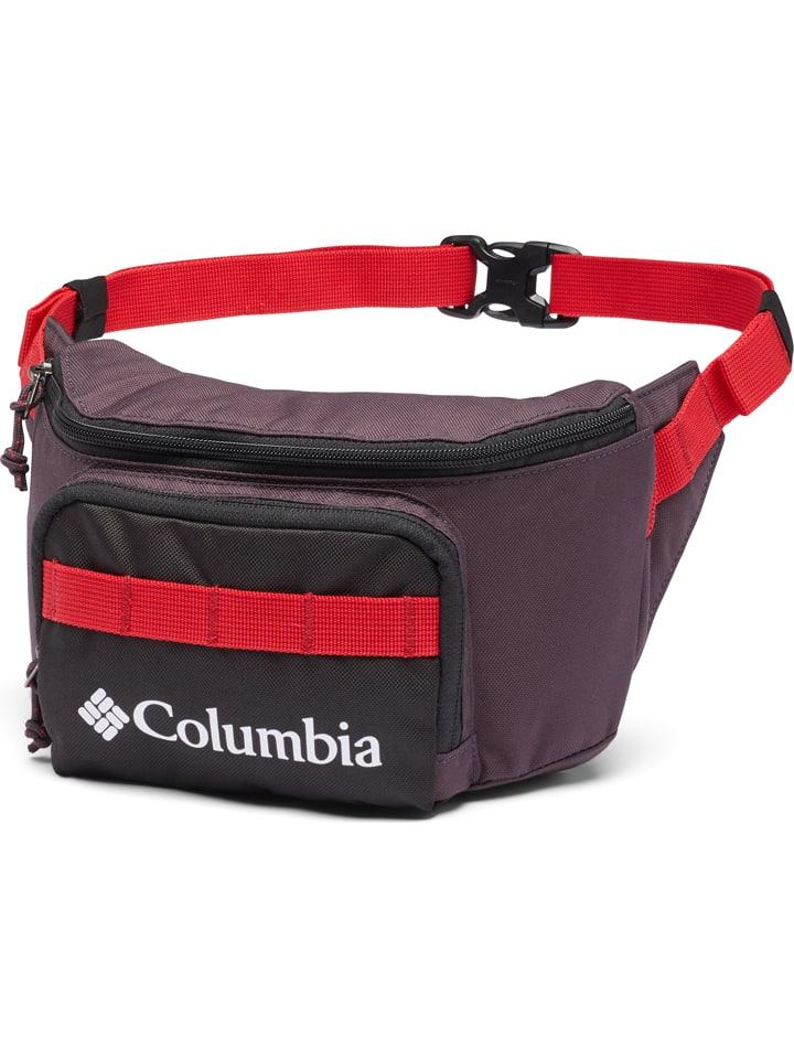"""Columbia Saszetka """"Zigzag"""" w kolorze czerwono-ciemnofioletowym"""
