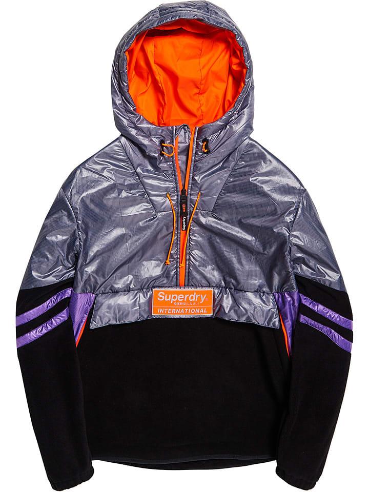 "Superdry Winterjas ""Polar International"" zilverkleurig/zwart"