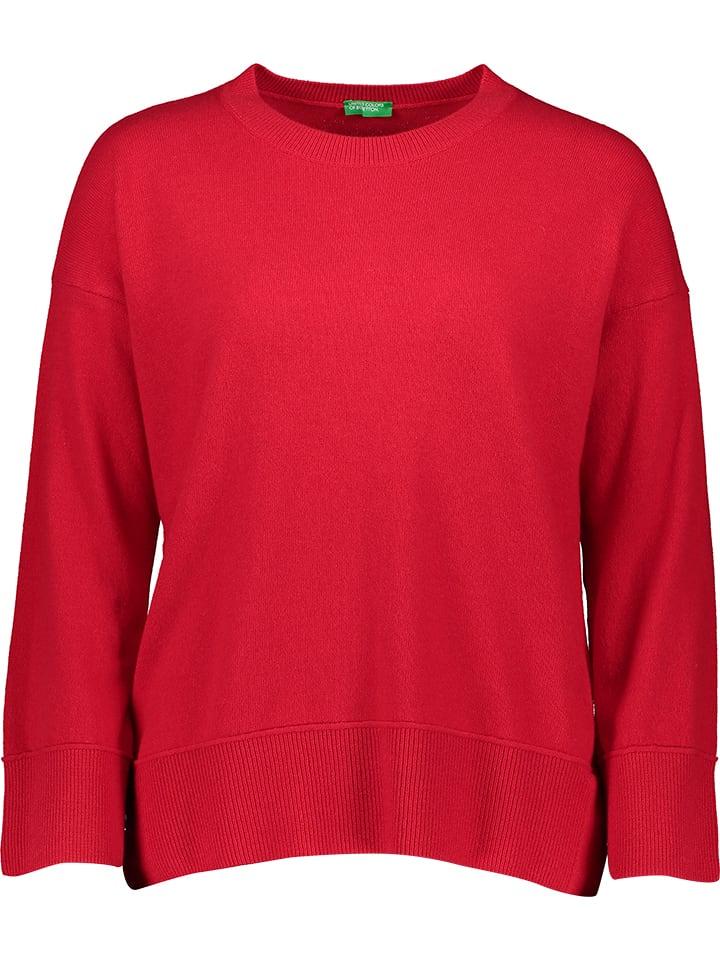 Benetton Sweter w kolorze czerwonym