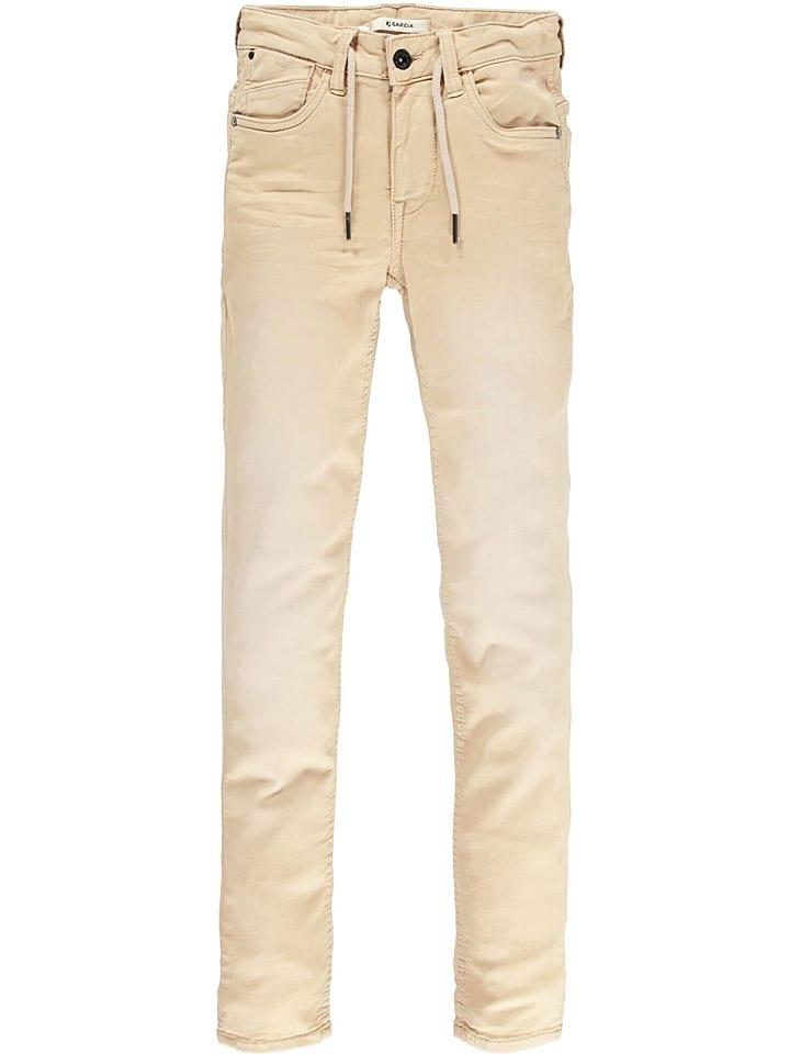 """Garcia Spodnie """"Lazlo"""" w kolorze beżowym"""