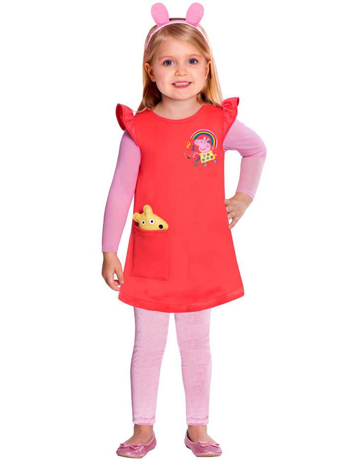 """Amscan Kostuumjurk """"Peppa"""" rood"""