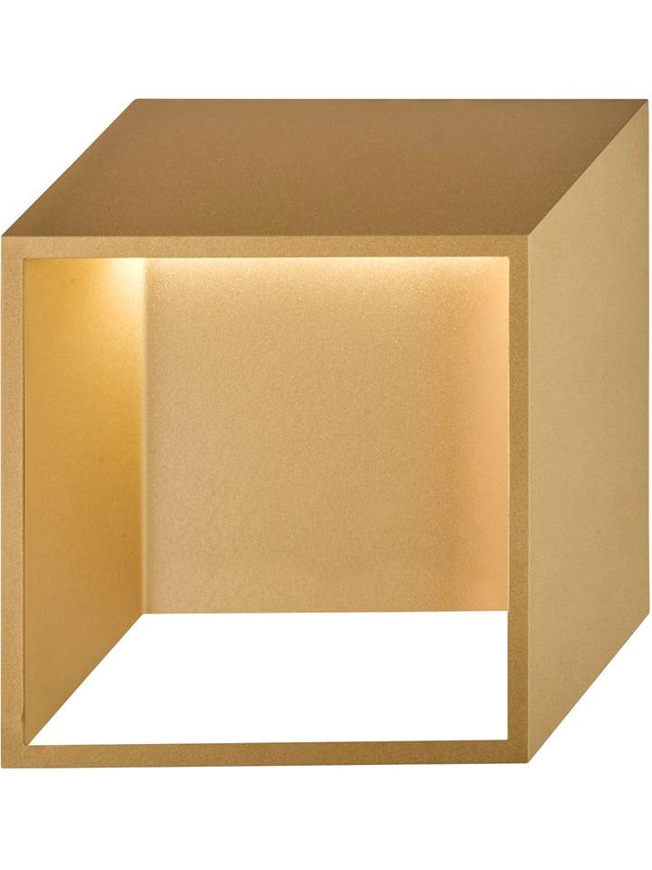 """WOFI Ścienna lampa LED """"Quebec"""" w kolorze złotym - 25 x 25 cm"""
