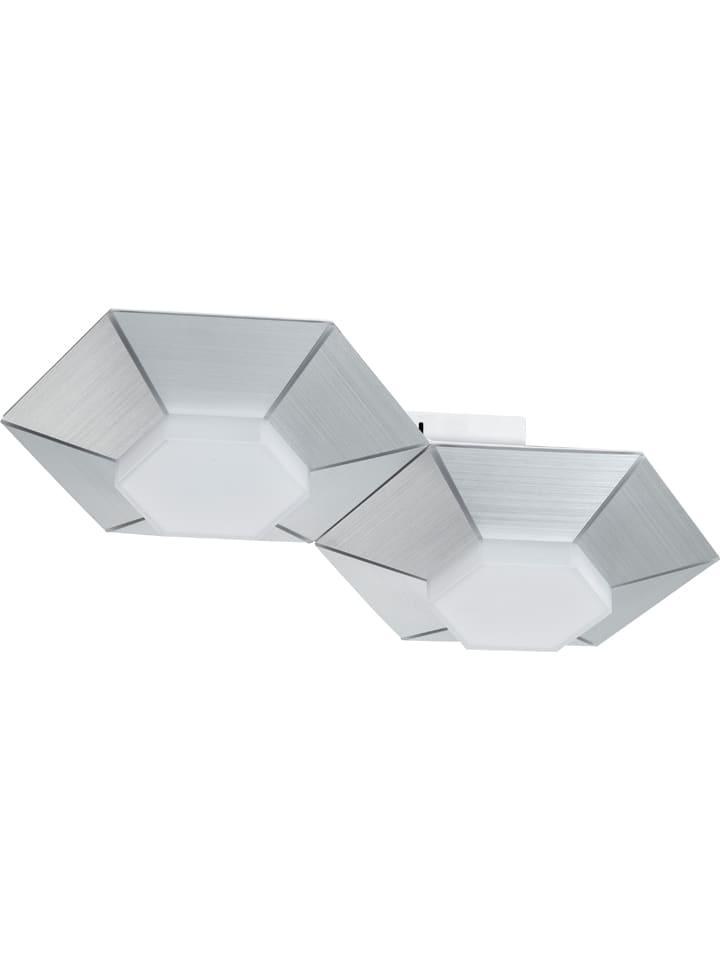 "WOFI Lampa ścienna LED ""Bente"" w kolorze srebrnym - 40 x 23 cm"
