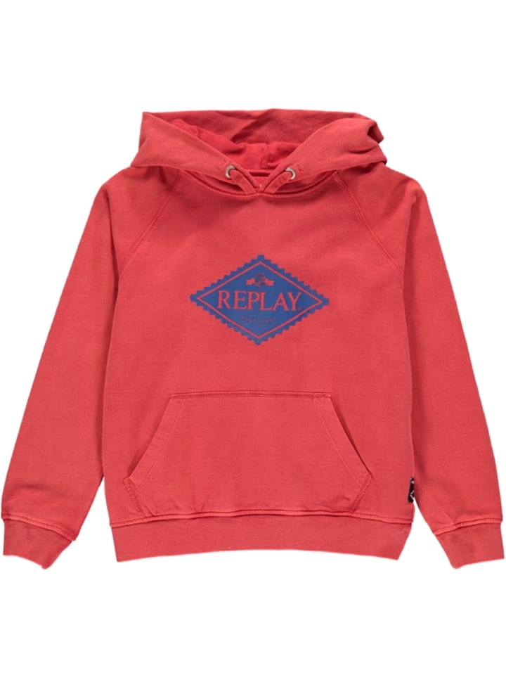Replay & Sons Sweatshirt in Rot
