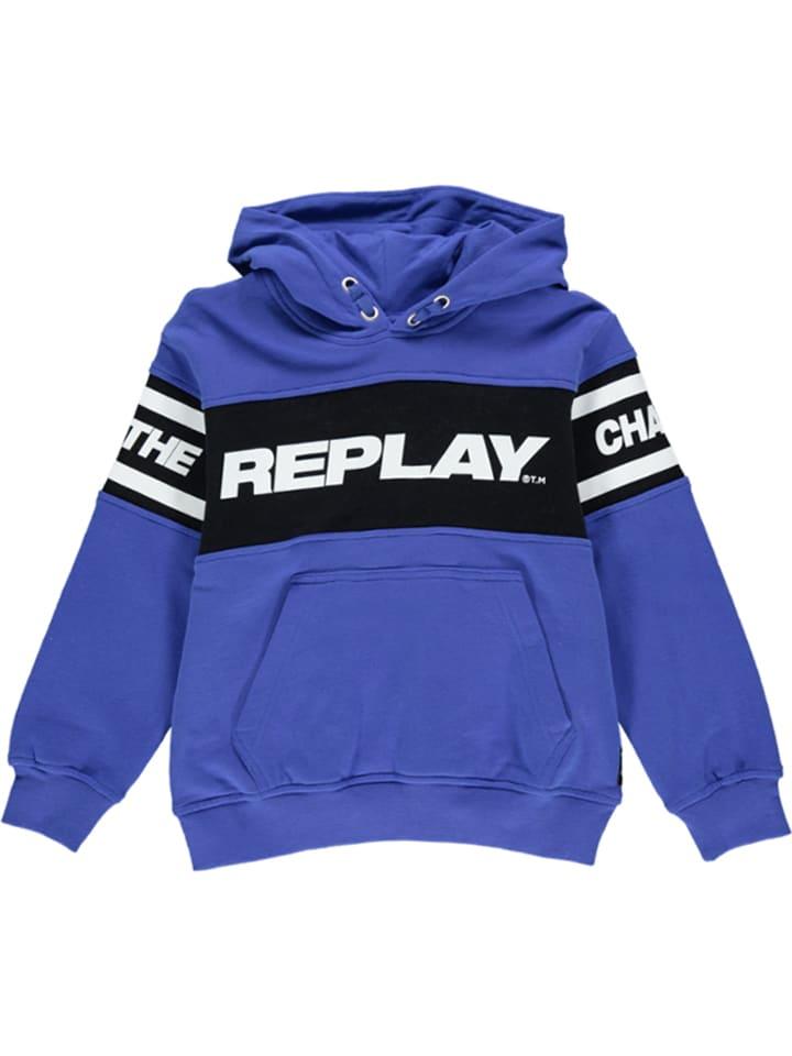 Replay & Sons Sweatshirt in Blau