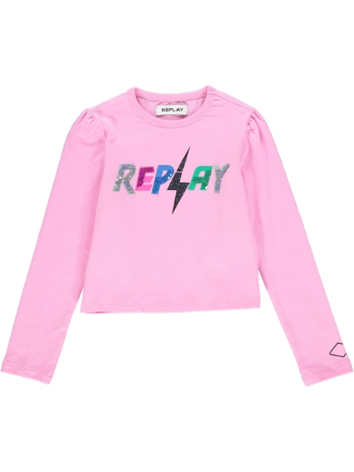 Replay & Sons Longsleeve in Rosa