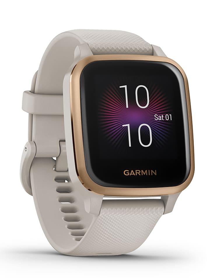 "Garmin GPS-Fitness-Smartwatch ""Venu Sq NFC-Music"" in Beige/ Roségold/ Schwarz"
