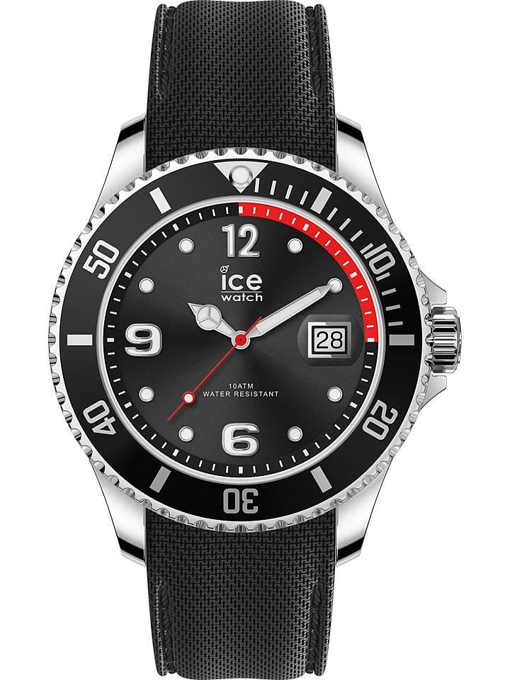 """Ice Watch Zegarek kwarcowy """"Steel"""" w kolorze czarno-srebrnym"""