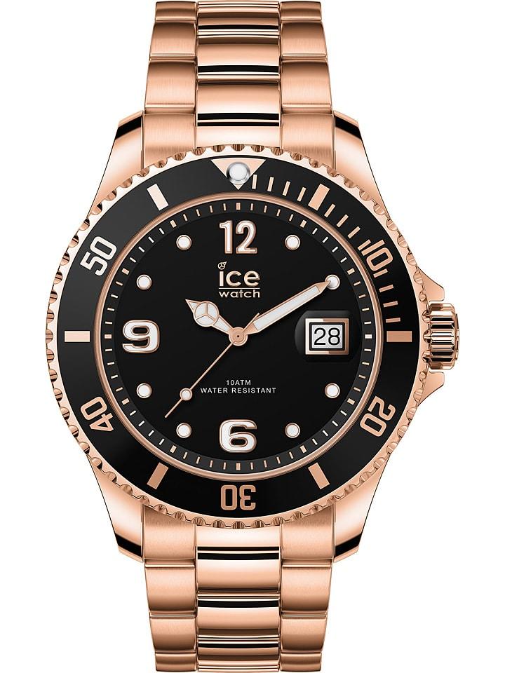 """Ice Watch Zegarek kwarcowy """"Steel"""" w kolorze różowozłoto-czarnym"""